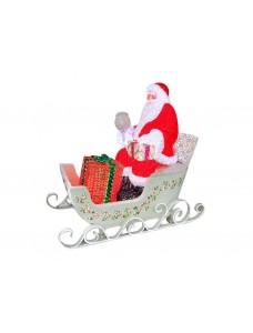 Световые Сани с Дедом Морозом 165 см